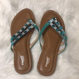 Super Cute Bling Flip Flop Sandals.  EUC Size 7